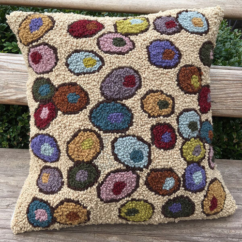 Hooked By Design Pebbles/Fawn Cushion