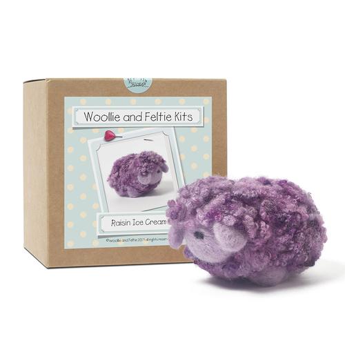 Raisin Ice Cream Sheep Needle Felting Kit