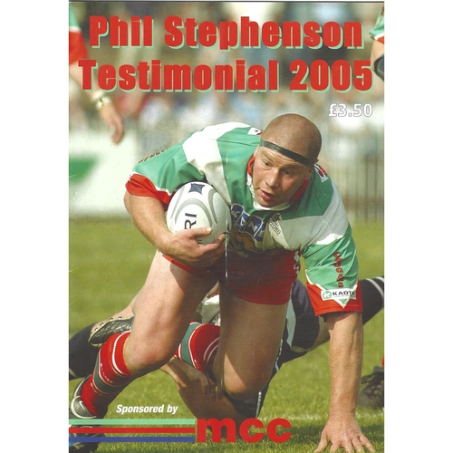 2005 Phil Stepenson Testimonial Rugby League Brochure & Team Sheet for testimonal match on 30th October 2005