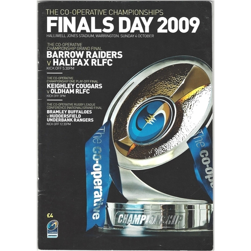 2009 Rugby League Championships Finals Day Programme & Match Ticket