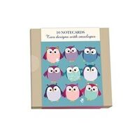 Notecard Wallets (10 Cards) - Owls