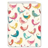 Plastic Cover Notebook - Birds