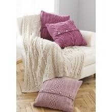 Aran Throw & Cushion Pattern 5660