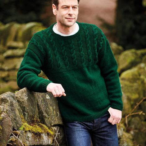 Aran Sweater Pattern 10077