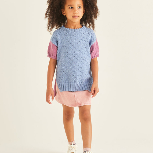 Child's Short Sleeved Sweater Pattern 2549