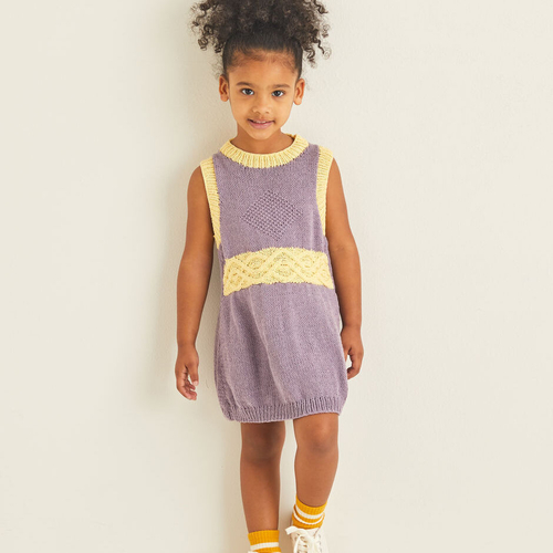 Child's Cable Sweater Dress Pattern 2544