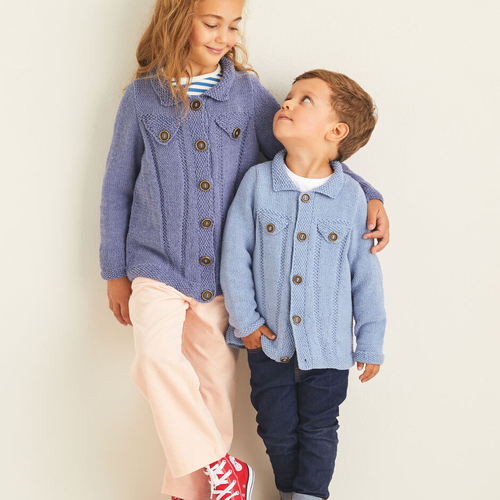 Child's Denim Jacket Style Pattern 2537