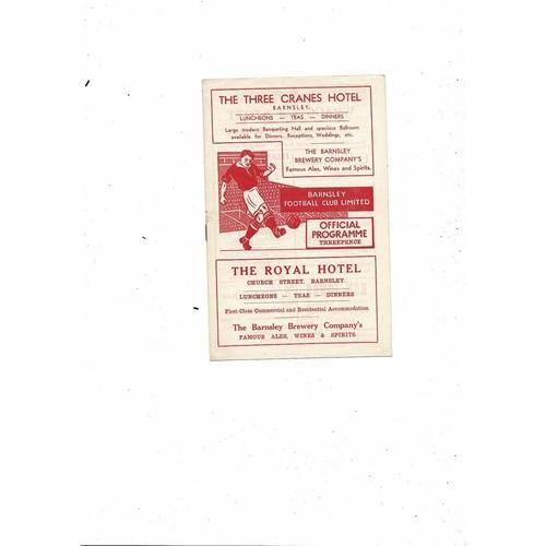 1955/56 Barnsley v Leeds United Football Programme