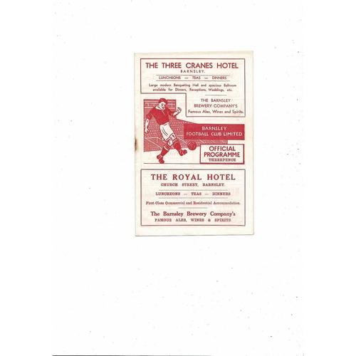1955/56 Barnsley v Blackburn Rovers FA Cup Football Programme