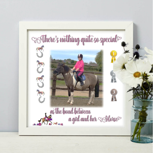 Horse Lovers photo printed frame