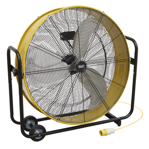 "Industrial High Velocity Drum Fan 30"" 110V - Sealey - HVD30110V"