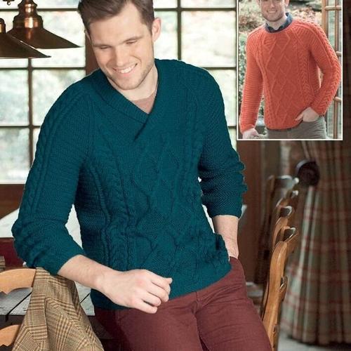 Aran Sweater Pattern 9795