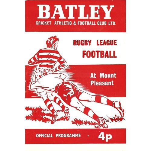 Batley Home Rugby League Programmes