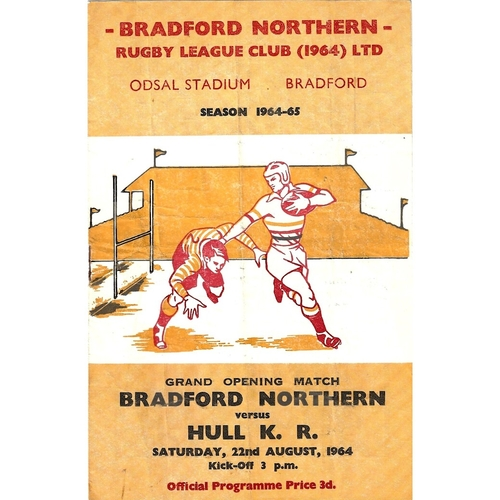 1964/65 Bradford Northern v Hull Kingston Rovers Rugby League programme
