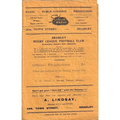 Vine Tavern Away Rugby League Programmes