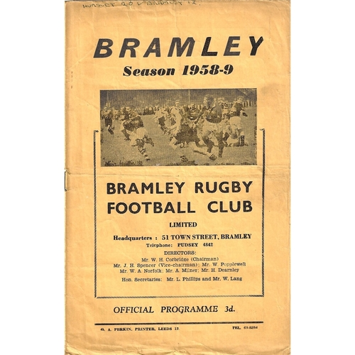 Hunslet Away Rugby League Programmes