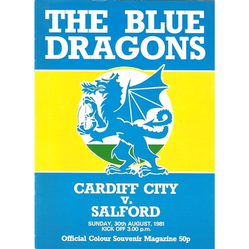 Cardiff City Home Rugby League Programmes