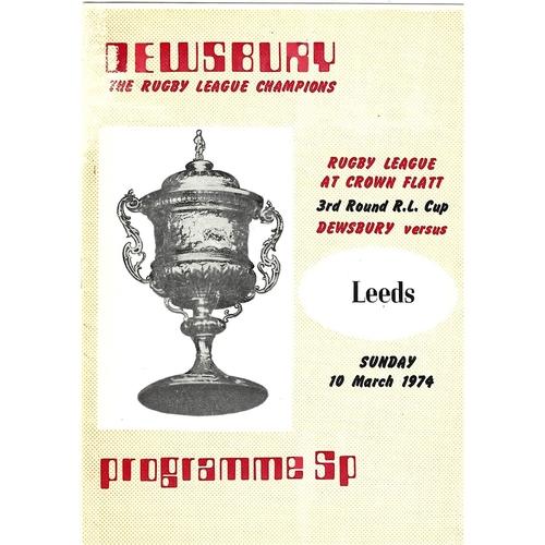 Dewsbury Home Rugby League Programmes