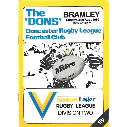 Doncaster Home Rugby League Programmes