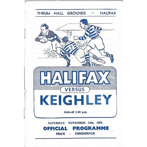 1959/60 Halifax v Keighley Rugby League programme