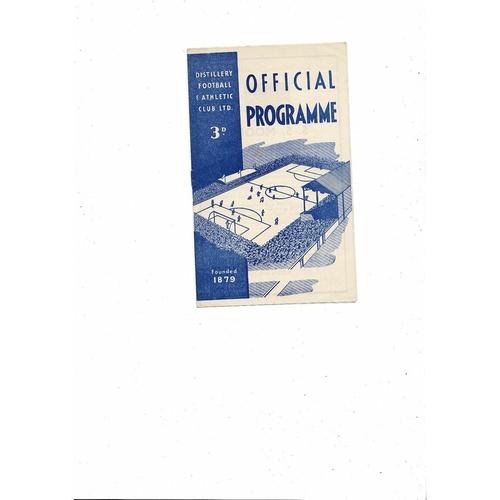 Distillery Home Football Programmes