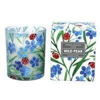 Boxed Candle Sml - Wild Pear w/Forget Me Not/Ladybird