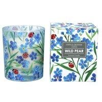 Boxed Candle Large Wild Pear w/Forget Me Not/Ladybird