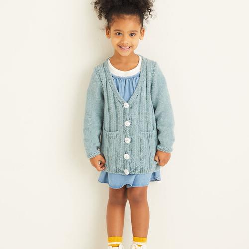 Child's Longline Cardigan Pattern 2533