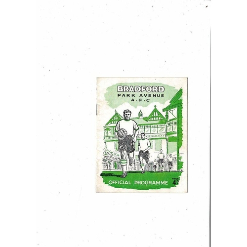 1961/62 Bradford Park Avenue v Port Vale FA Cup Football Programme