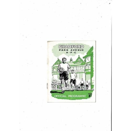 1961/62 Bradford Park Avenue v Reading Football Programme