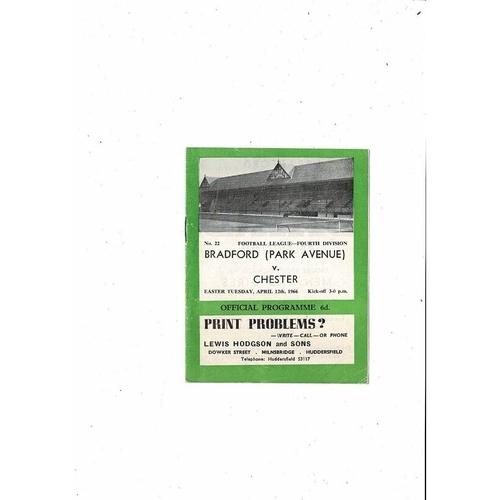 1965/66 Bradford Park Avenue v Chester City Football Programme