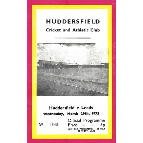 Huddersfield/Barracudas/Giants Home Rugby League Programmes