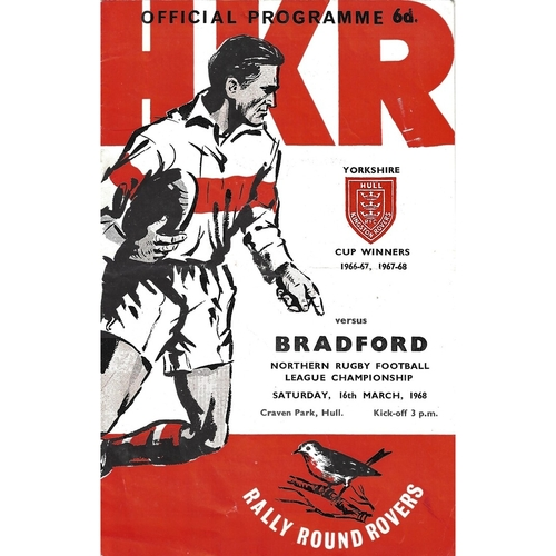 Hull Kingston Rovers Home Rugby League Programmes