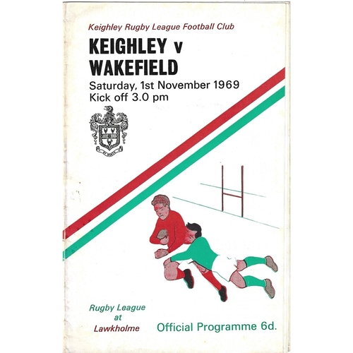 1969/70 Keighley v Wakefield Trinity Rugby League programme