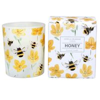 Boxed Honey Scented Bee Candle Large