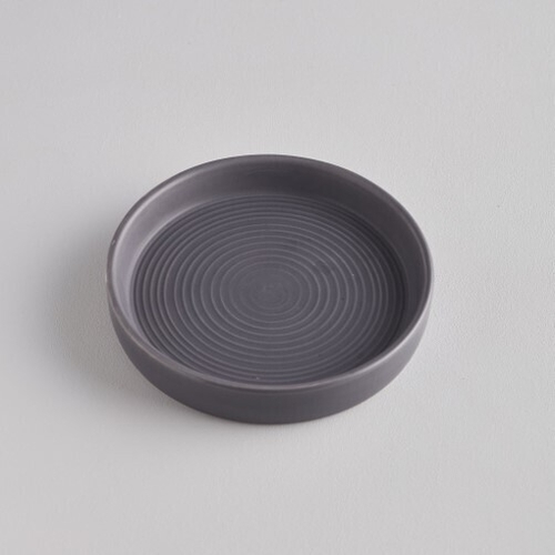 Dark Grey Candle Plate Small