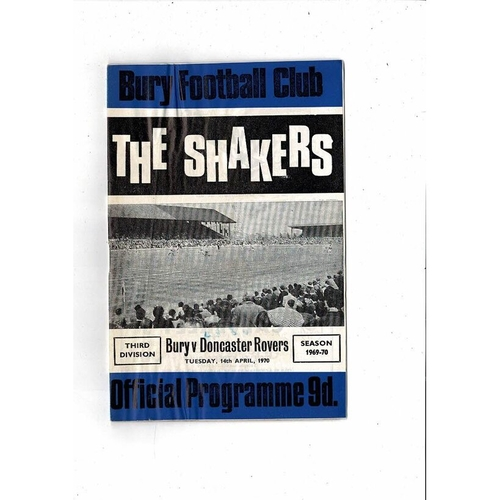 1969/70 Bury v Doncaster Rovers Football Programme + League Review