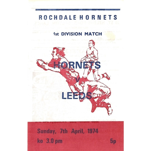 Rochdale Hornets Home Rugby League Programmes