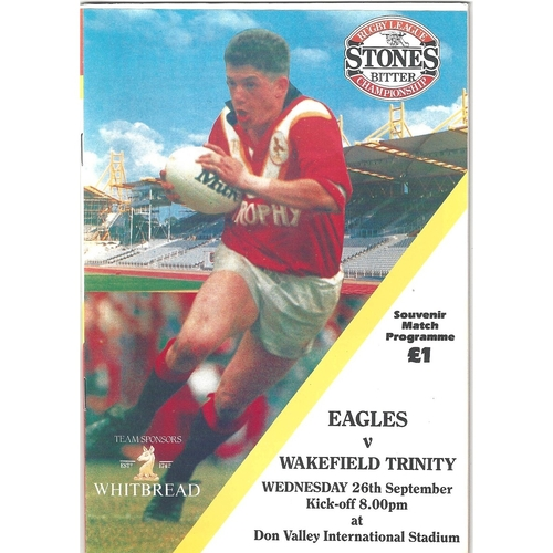 Sheffield Eagles Home Rugby League Programmes