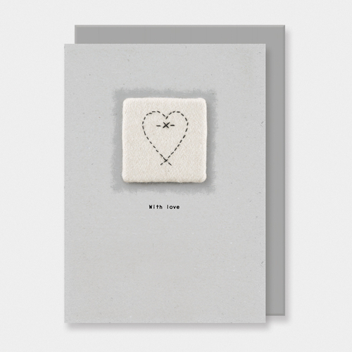 Embroidered Card With Love