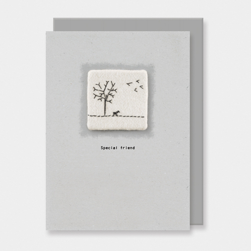 Embroidered Card Special Friend