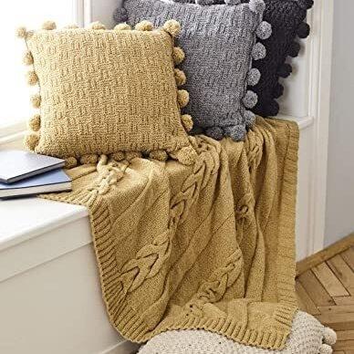 Aran Throw & Cushion Pattern 5661