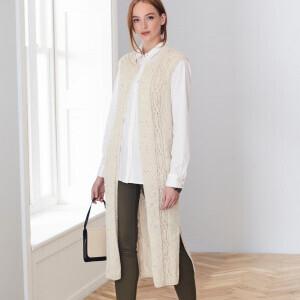 Aran Longline Waistcoat/Cardigan Pattern 5656