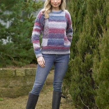 Chunky Sweater Pattern JB497