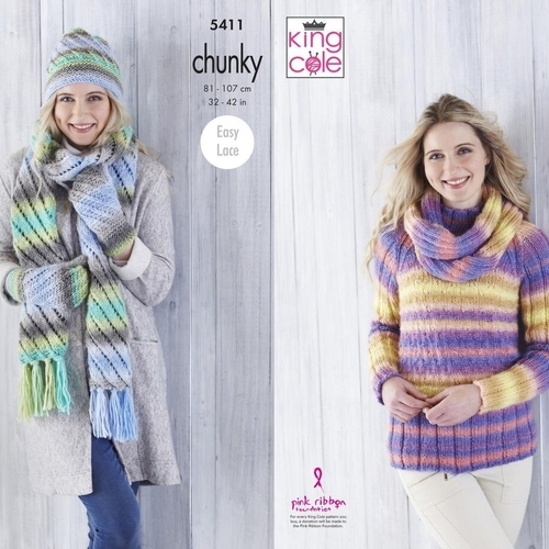 Chunky Sweater & Accessories Pattern 5411