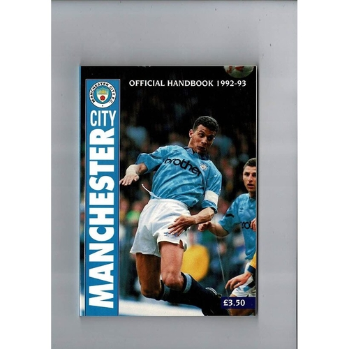 Manchester City Official Football Handbook 1992/93