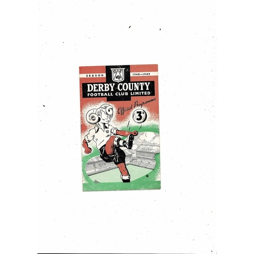 1948/49 Derby County v Bolton Wanderers Football Programme