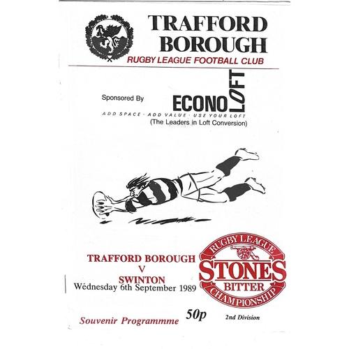 Swinton Away Rugby League Programmes