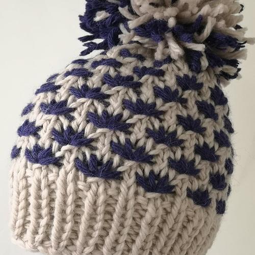 Star Stitch Lotus Flower Ladies Hat