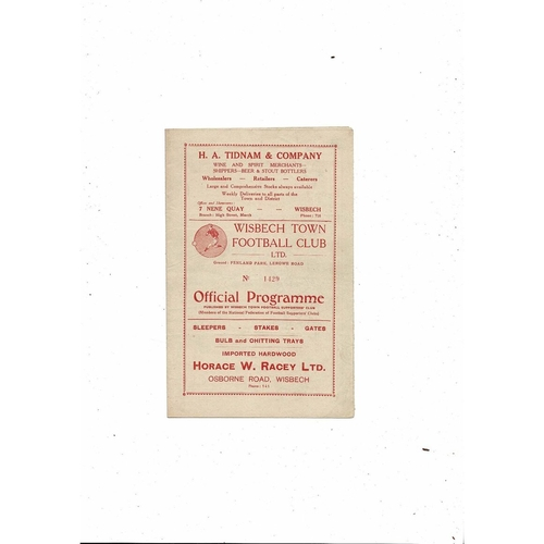 1953/54 Wisbech Town v March Town FA Cup Football Programme